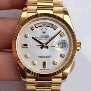 Rolex Day-Date M128238 EW Factory White Dial Diamond Time Scale