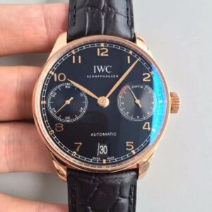 IWC Portuguese IW500701 ZF Factory Black Dial