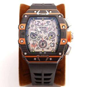 Richard Mille RM011-03 McLaren Automatic Flyback Chronograph KV Factory Skeleton Dial