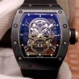 Richard Mille RM052-01 ZF Factory Black Ceramic Grey Skull Dial